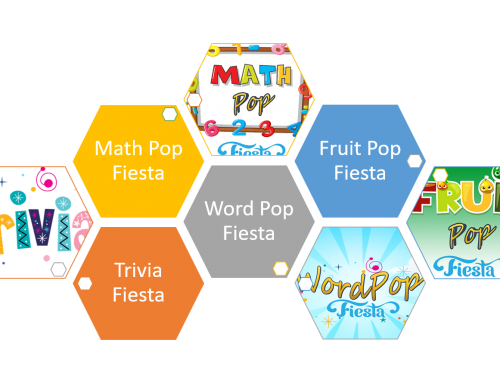 Introducing Web Editions of Trivia Fiesta, Word Pop Fiesta, Math Pop Fiesta and Fruit Pop Fiesta